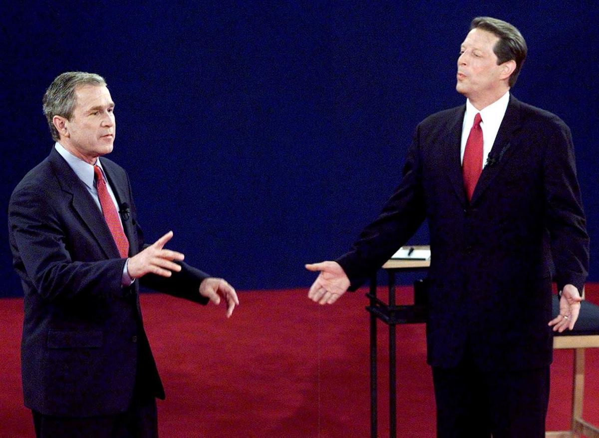 George Bush Al Gore debate