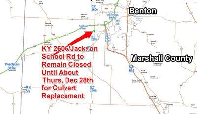 Marshall County road closure expected through Thursday