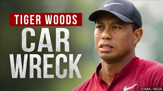 Tiger Woods car wreck mgn