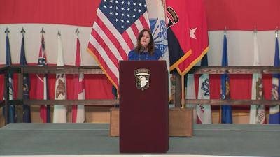 Second Lady Karen Pence at Ft. Campbell