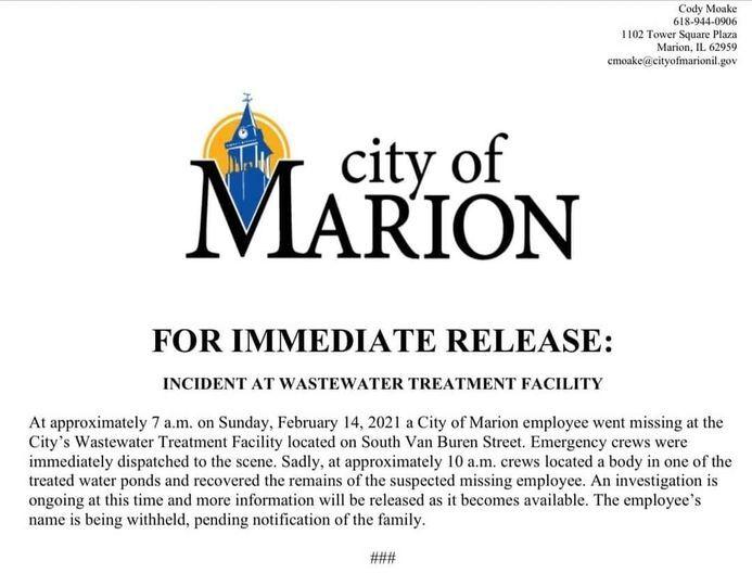 City of Marion relesase