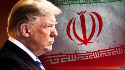 Trump iran flag