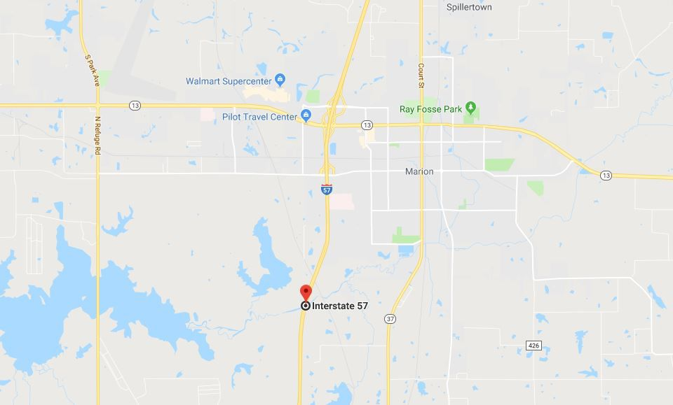 One killed, two injured in Sunday crash near Marion, IL ... on map of marion ohio, mapquest marion il, marion city il, map of marion indiana, map of central falls ri,