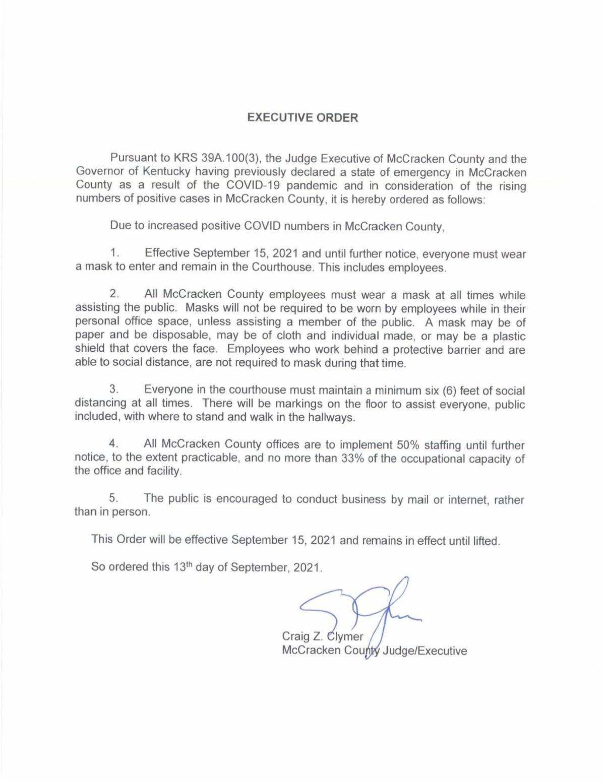 Executive Order 9-13-21