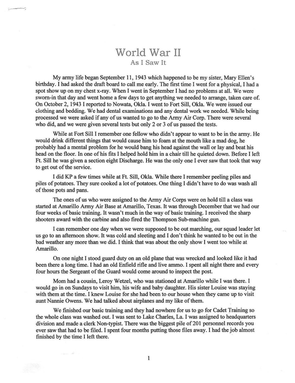 World War II Article 1