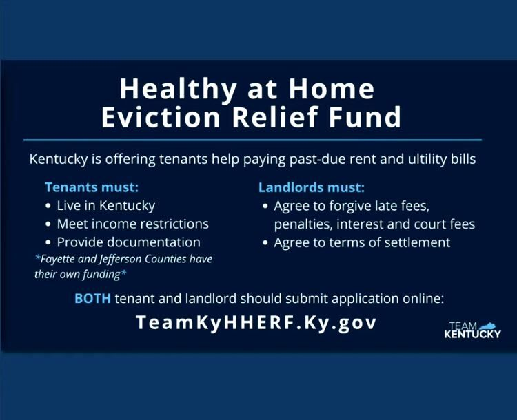 Kentucky Eviction Relief Fund 2/11/21