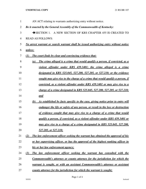 RS 21 Senate Bill 4