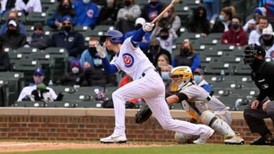 Duffy's pinch-hit lifts Cubs over Pirates 3-2