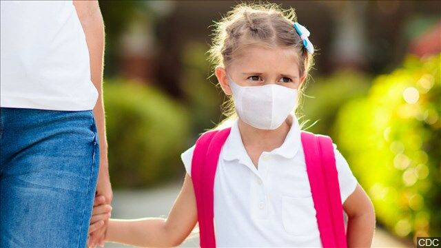Child COVID-19 mask school kid mgn