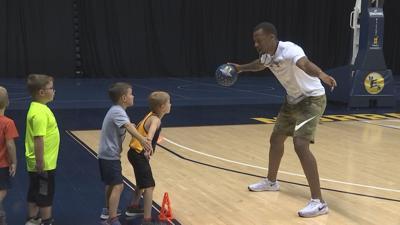 Racers enjoy 'normal' week at basketball camp