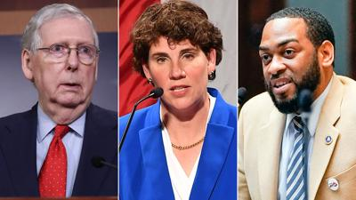 Mitch McConnell, Amy McGrath and Charles Booker
