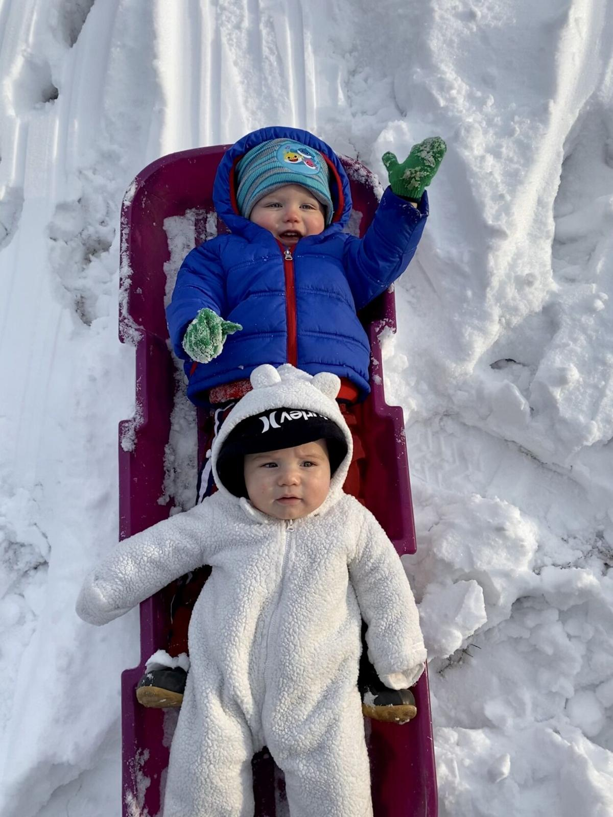 """""""Just a couple of snow babies!"""" courtesy of Taylor Thomas in Paducah"""