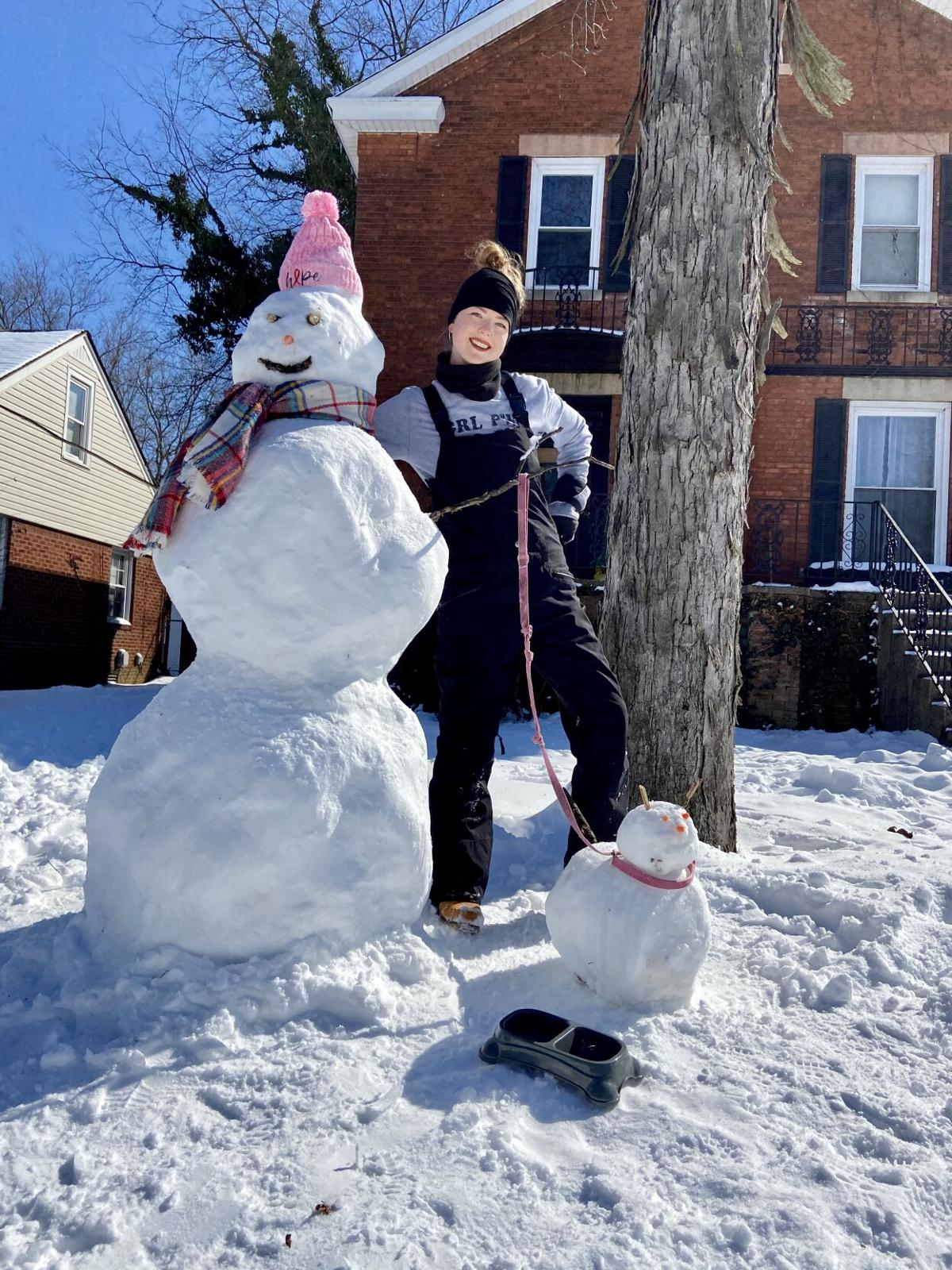 6' Snow person and snow dog, courtesy of Briana Rollins and Samuel Hawkins.