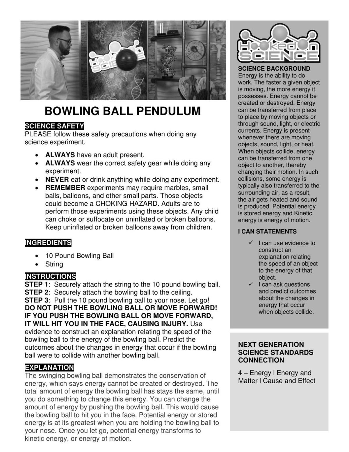 Hooked on Science: Bowling ball pendulum
