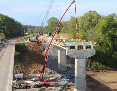 First Approach Deck Concrete Pour on New U.S. 60 Cumberland River Bridge at Smithland