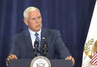 Vice President Mike Pence addresses crowd in Manchester, Kentucky