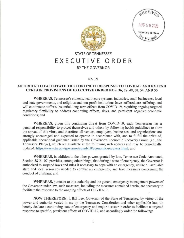 Executive Order 59
