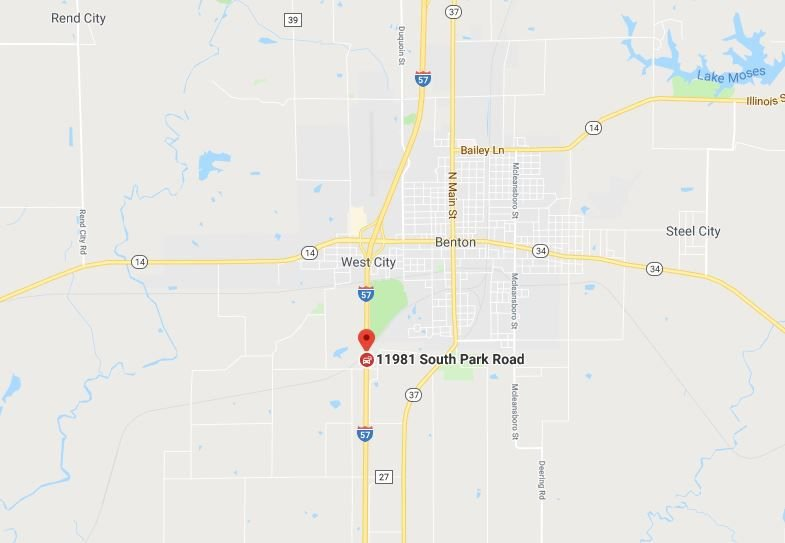 Benton, IL crash map