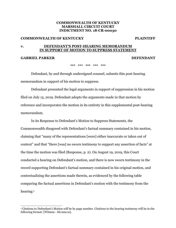 Parker-Posthearing-memorandum