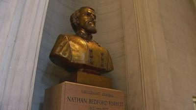 Nathan Bedford Forrest bust Nashville Capitol
