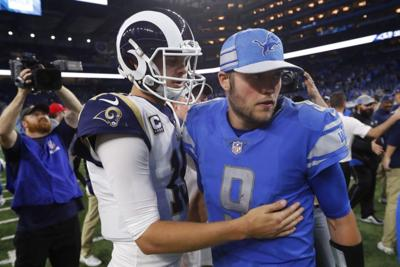 AP source: Lions trade Stafford to LA for Goff, draft picks