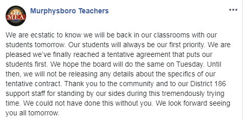 Murphysboro teachers post