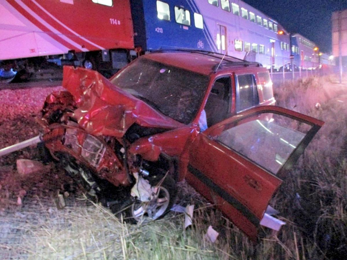 Utah Train Hits Car 1
