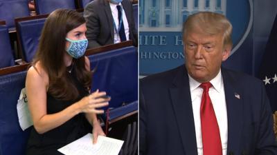 Trump vs CNN reporter