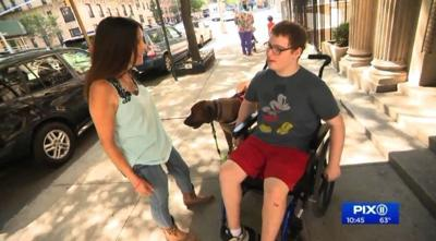 Service dog bonds with special needs teen