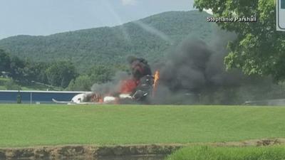 Earnhardt crash NBC photo