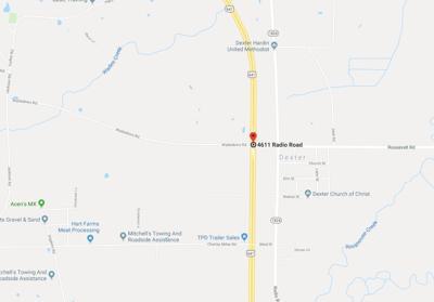 Calloway County horse crash map