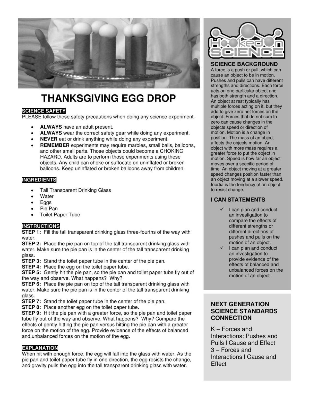 Thanksgiving Egg Drop