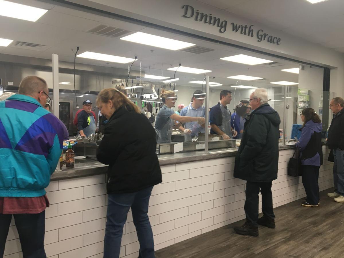 food line at marcella's.JPG
