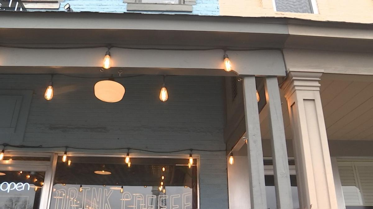 Martin's Coffee and Bakery string lights