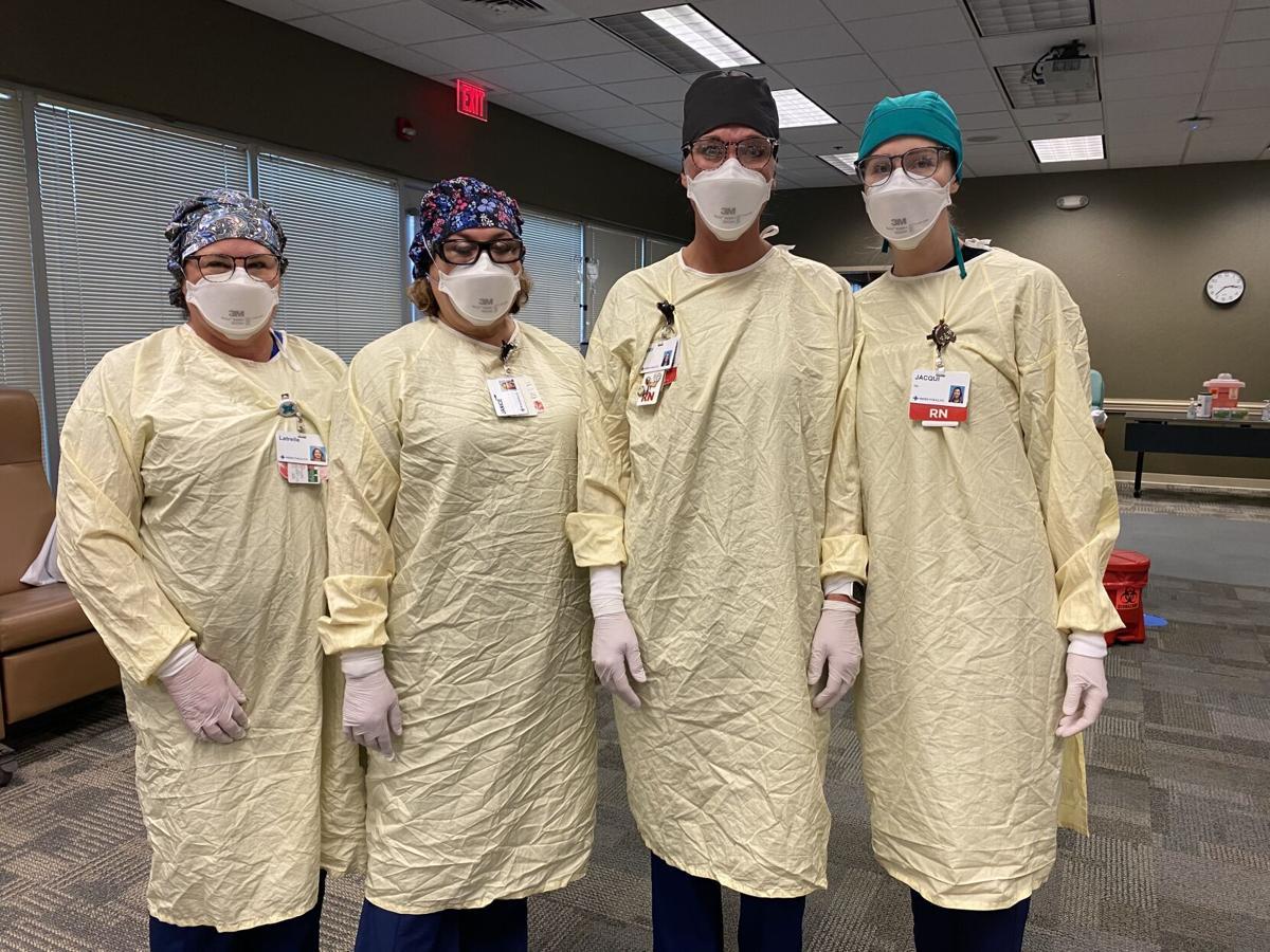 Nurses in monoclonal treatment center