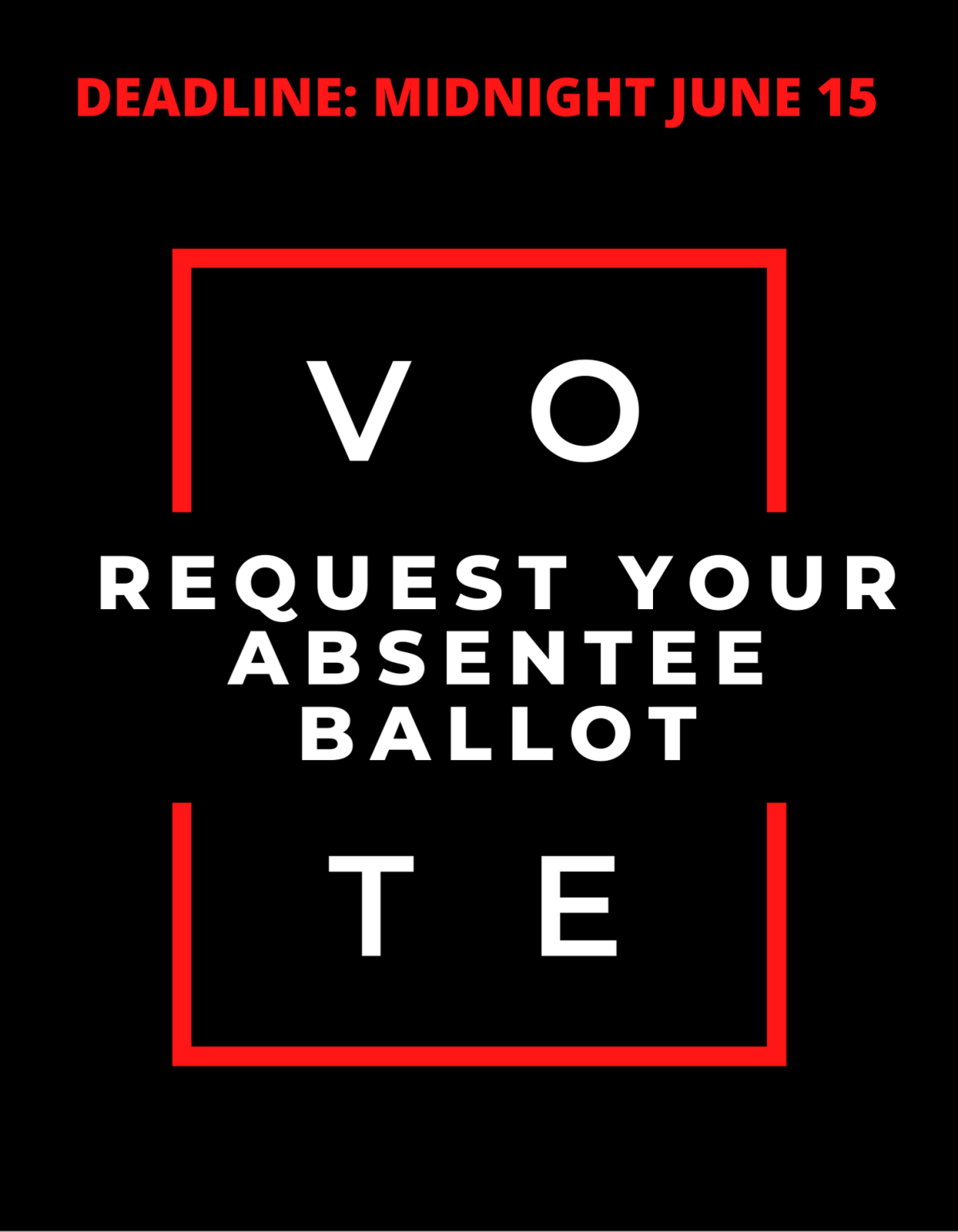 Request your ballot deadline