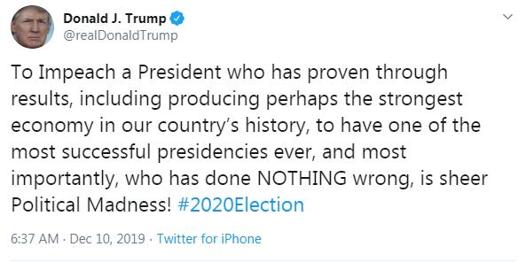 Pres. Trump Tweet 12 10