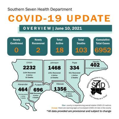 S7HD COVID-19 update map June 10, 2021