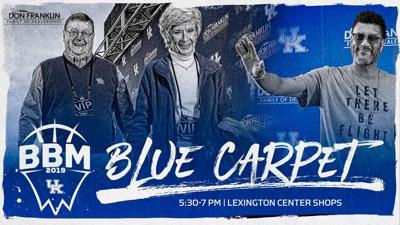 Big Blue Madness blue carpet graphic