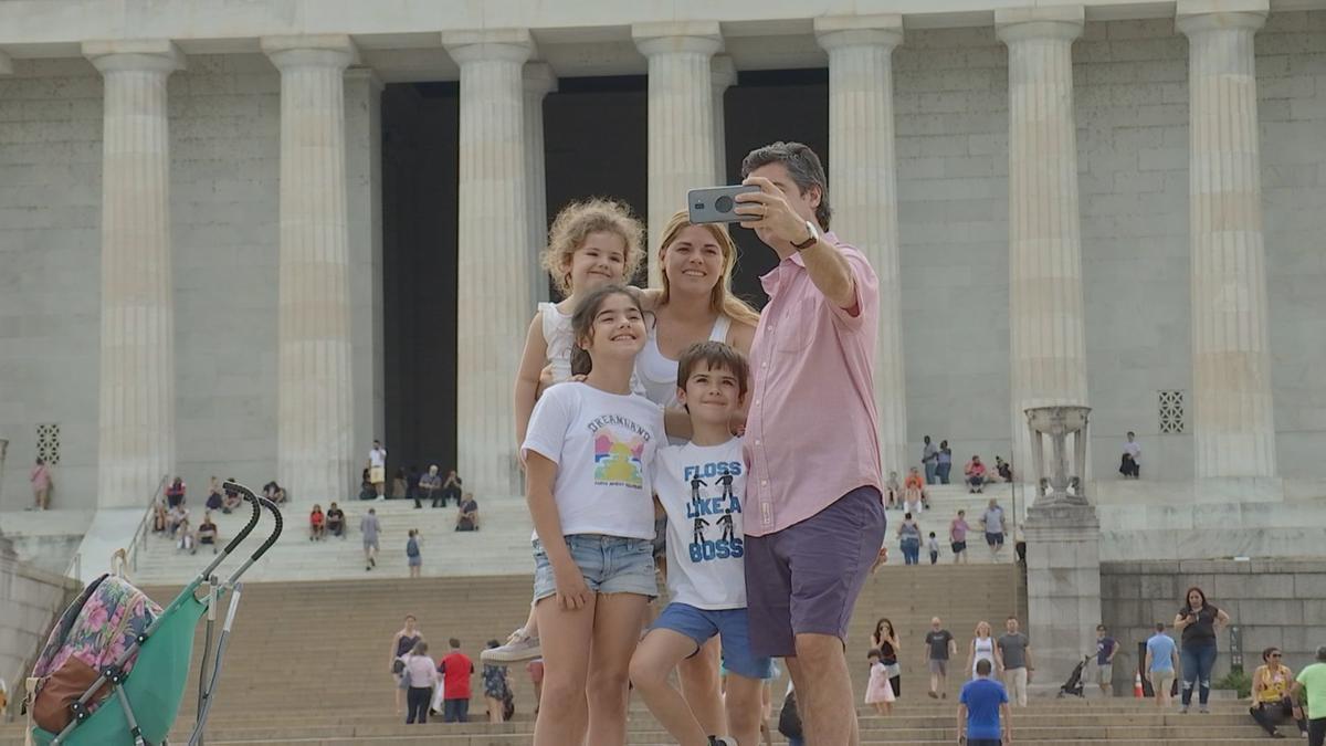 Family visits D.C.