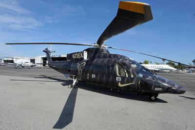 **This image is for use with this specific article only**Kobe Bryant Helicopter