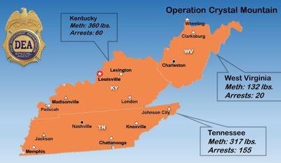 DEA Operation Crystal Mountain map
