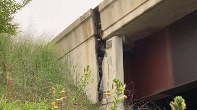 North Crossing Bridge Crack