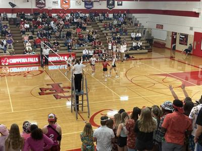 100721 Eau Claire Memorial Chippewa Falls volleyball