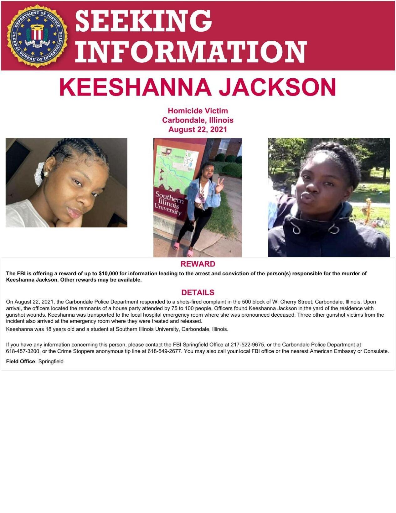 Keeshanna Jackson murder poster