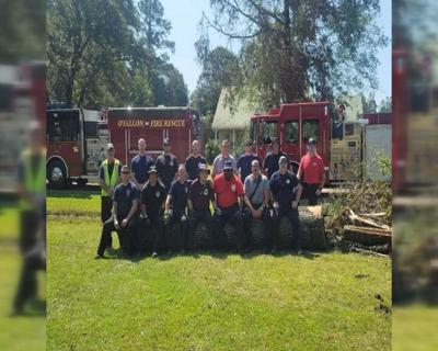 Firefighters Return Home Ida PKG