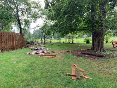 Oswego Crash Through Fence