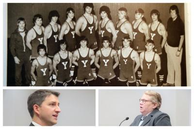 Collage 1979 Yorkville Wrestling Team, John Ellis Kristi Browne