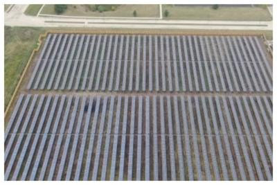 Kendall County Courthouse Campus Solar Array from the Air