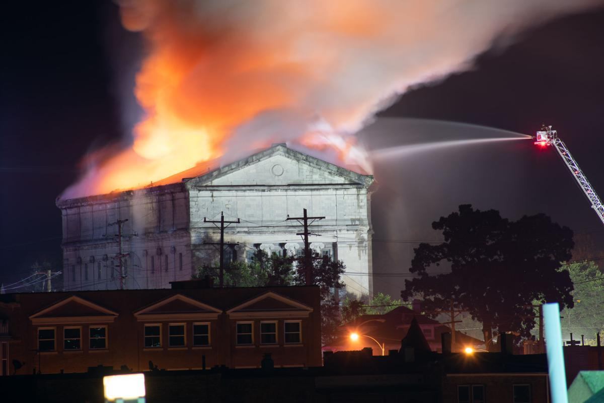 Masonic Temple Fire 1